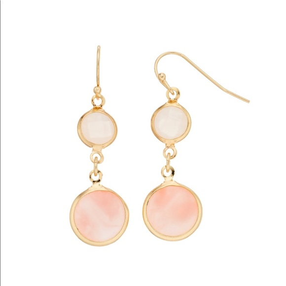 LC Lauren Conrad Jewelry - LC Lauren Conrad Double Drop Earrings NWT